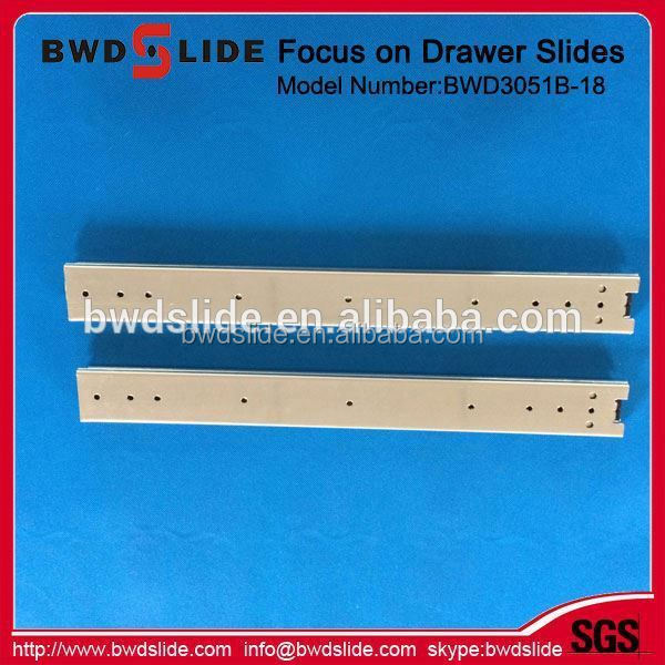 High grade 3 sides metal sliding tracks for hotel furniture