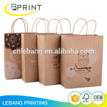 Recycled Kraft Brown Paper Bag With Handle