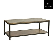 Industrail reproduction Antique Wooden Coffee Tables with metal legs
