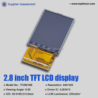 hot sale 2.8 inch tft lcd display 6 o'clock viewing angel for industrial control system