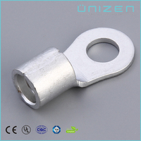 UNIZEN Shanghai Cheap Goods RNB Non Insulated Red Copper Ring Connector Wire Terminal