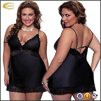 Ecoach Wholesale OEM Women's Plus Size Sexy Straps Short Transparent Robe Nude Sleepwear