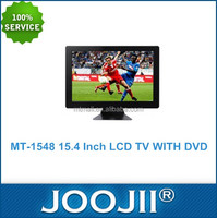 Best price 15.4 inch TV, Flat Screen Television, 2016 Hot Selling LCD TV With DVD