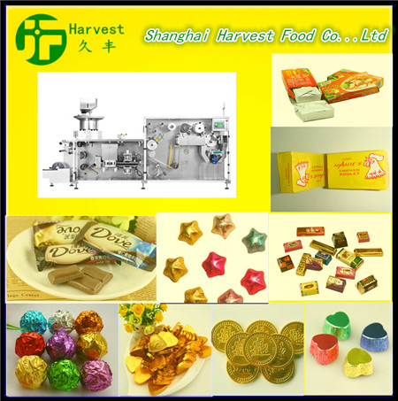 professional chocolate fold foil wrapping machine