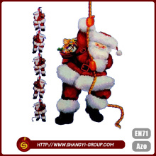 2016 High quality cheap Christmas santa doll ornaments