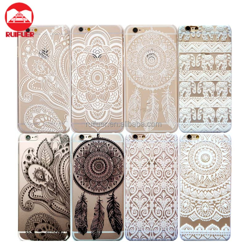 HENNA Flower Paisley Tribal Elephant Cover Phone Case for iPhone 7 6 6S 5S SE