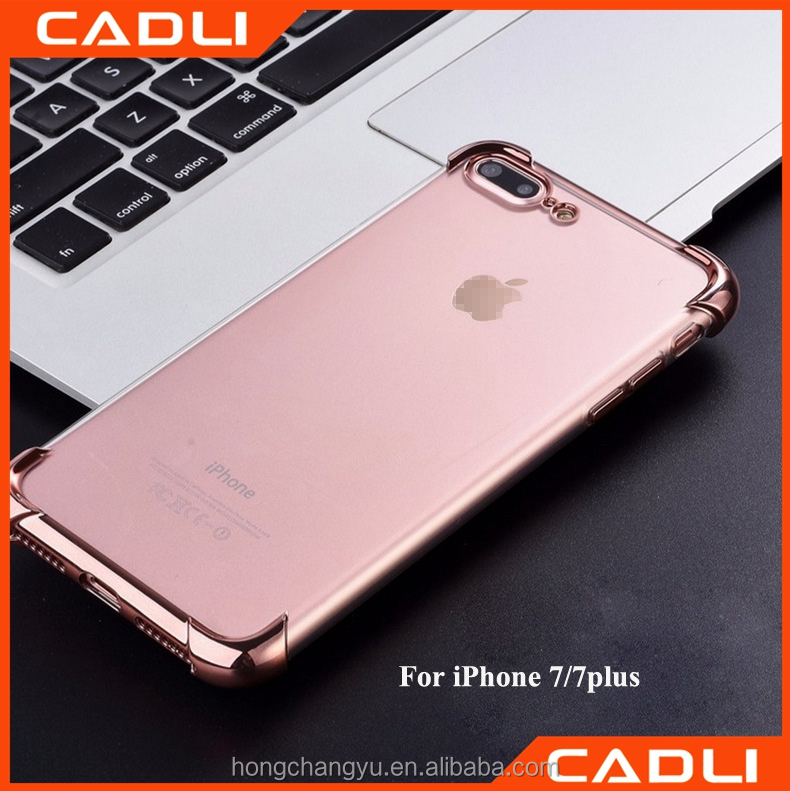 Packaging & Printing Rose Gold Plating Mobile Phone Bags & Cases for iPhone 7 plus