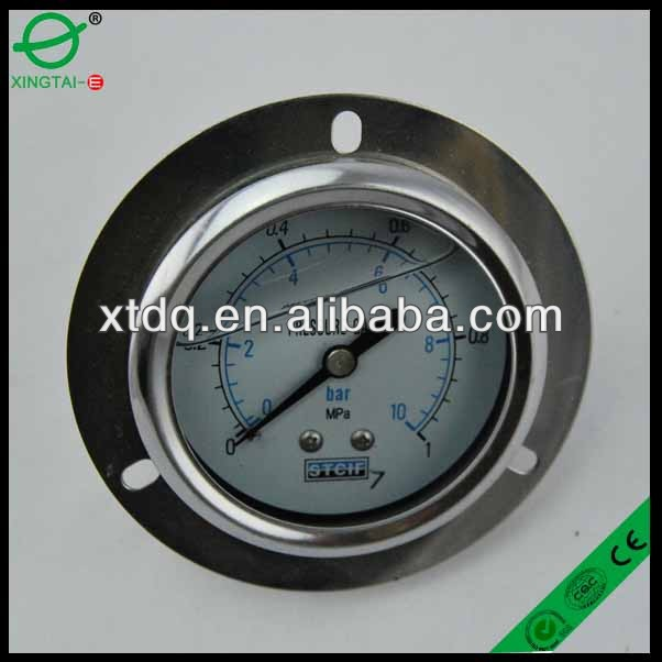 Stainless steel industrial series bayonet ring bimetal thermometer