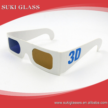 Top good quality printed Paper 3d Glasses Games red blue papaer 3d glasses