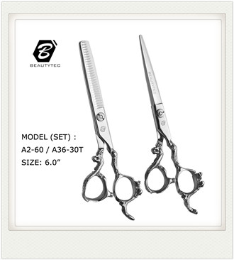 A6   professional  hair cutting  scissors  razor edge  hair scissors