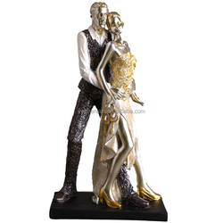 handmade resin sliver new couple dancer figurines