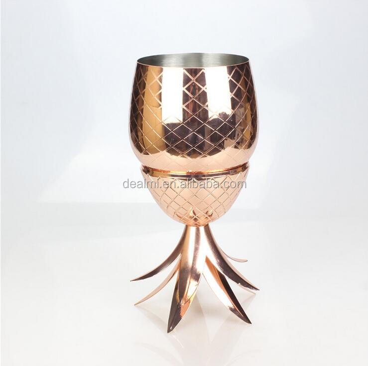 DEMI Wholesale pineapple cup pineapple stainless steel wine glass