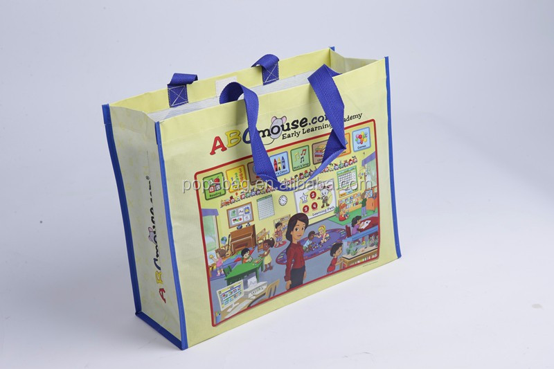 pp woven laminated bag for promotion and shopping made in China with cheap price
