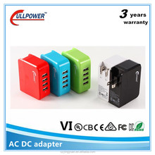 color switching charger adapter for portable dvd player,usb charging port mobile phone station