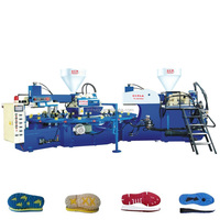 Automatic Rotary Plastic Double-color PVC Shoe Direct Injection Molding Machine