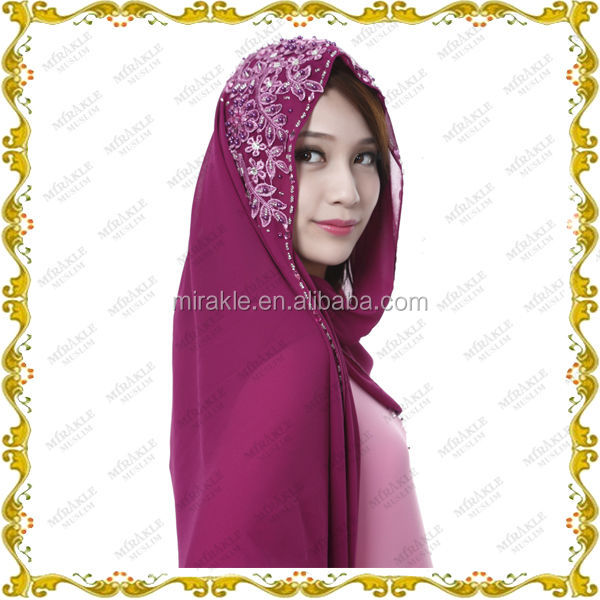 MF23600 designers Jubah wholesale with scarf for muslim women 2014