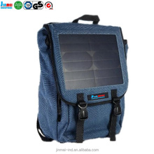 Fashion new design solar back pack 20L/30L/40/50L pvc 10A canvas laptop bag waterproof dry with USB charger cable JM-B005S14