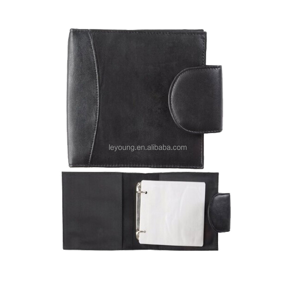 Leather CD/DVD Storage Binder Holder