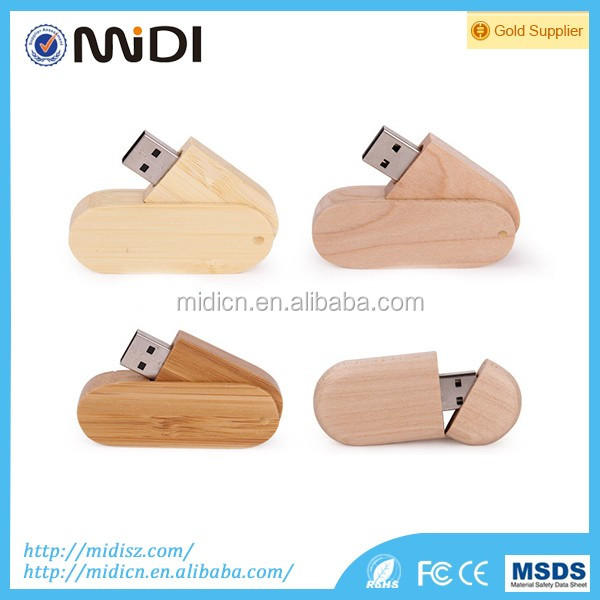 Wedding Gift Wood Bamboo Usb 2.0 Memory Stick Flash Pen Drive 8gb