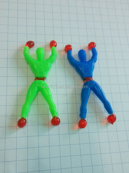 China factory cheap funny climb-man sticky toys for child kids