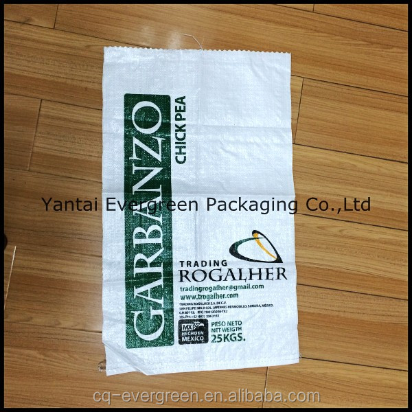25 kg rice bag/sack, cheap price woven pp bags.