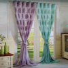 Custom made fancy sheer window curtains with pattern guangzhou supplier