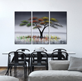 pretty abstract oil painting interior decoration for hotel