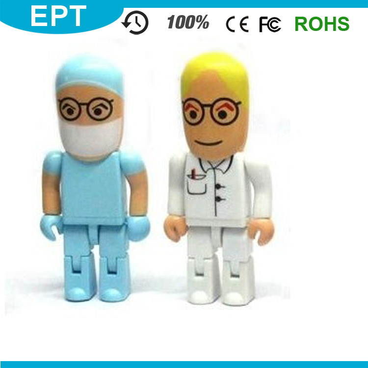 Medical Workers Plastic Robot Shape Lip USB Flash Drive Lighter Sale