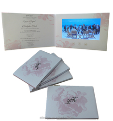 ETG 7 Inch Invitation Lcd Video Greeting Card/Video Booklet/Lcd Video Book