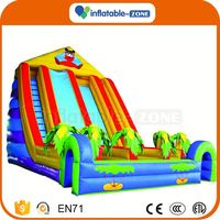 Customized super quality pirate ship inflatable slide games inflatable slides