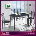 1202-17B Modern wrought iron dining table set