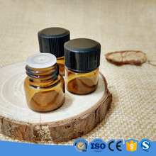 1ml 1/4 dram Amber Glass Bottle/Orifice Reducer/Plastic Cap