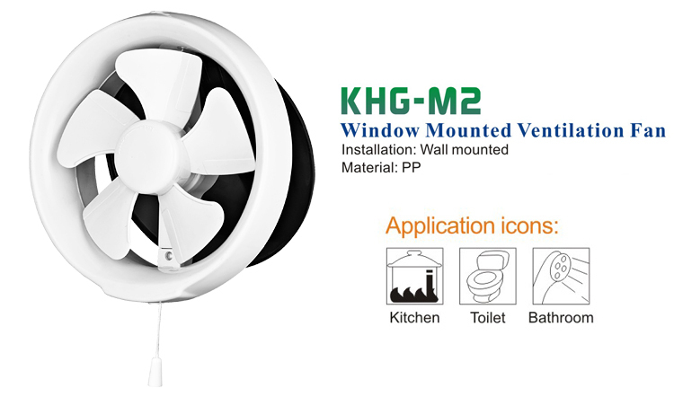 Round Window Mount Ventilation Fan (KHG15-M2)