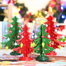 FQ brand wholesales custom best new tree Christmas tree DIY Furnishing articles wooden themed christmas tree ornaments