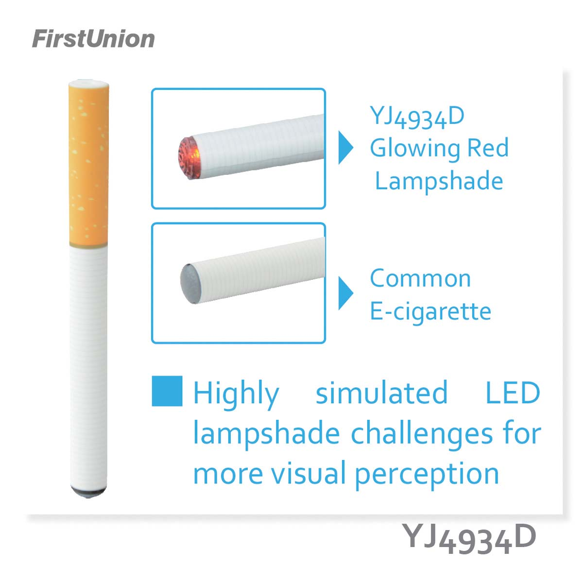 Firstunion new disposable atomizer e-cig YJ4934D clear choice electronic cigarette
