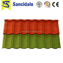 Hot selling red colored steel roof tiles