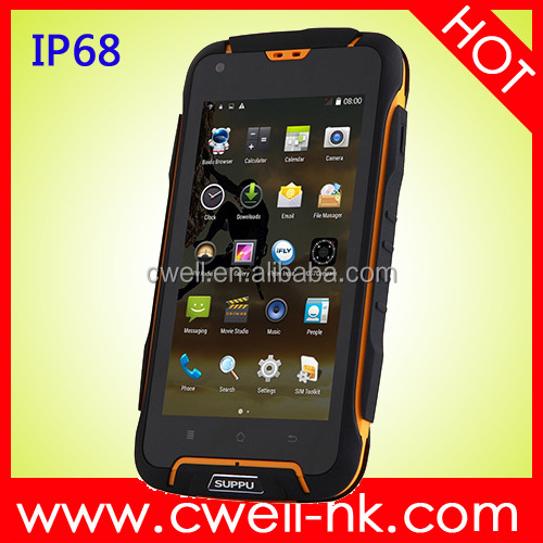 4.5 Inch IPS Screen MTK6582 Quad core 1GB RAM 8GB ROM Dual SIM card Android 4.4 SUPPU F6 IP68 Waterproof mobile phone