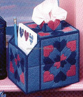 DIY goods,3D Cross stitch Embroidery.beautiful.Tissue Box-011-01