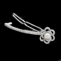 Fashion Headwear Accessories Cubic Zirconia And Pearl Diamond Women Wedding Jewelry Bridal Hair Pin