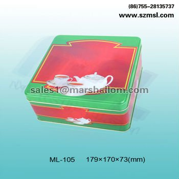 tea tools display box with PVC window