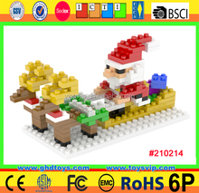 166PCS chrismas gift santa blocks creative construction toy set 3D model
