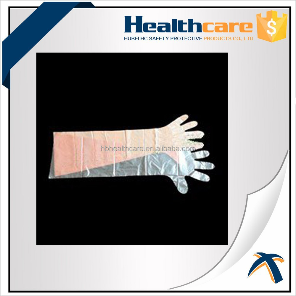 Disposable Plastic Glove with Long Sleeve