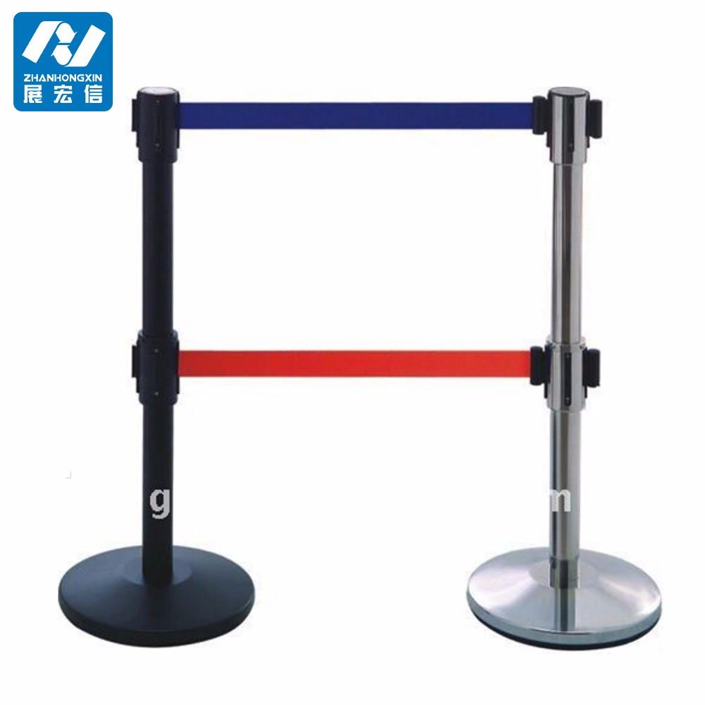 Retractable Belt Post - Retractable Belt Barrier with Double 10' Belt
