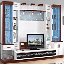 Modern hall india furniture simple led tv wall units showcase designs price