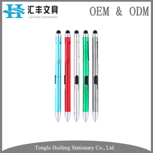 HF5292B customized color ink metal ballpoint stylus screen touch pen for christmas gifts