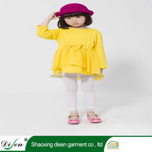 Wholesale cotton yellow sexy school without girl daily short dress