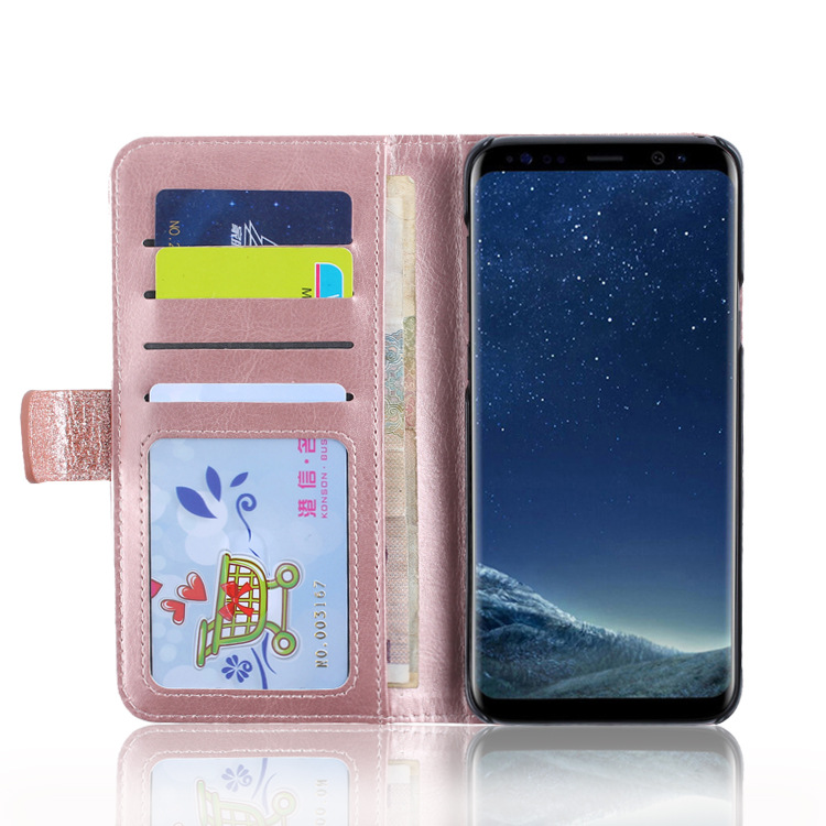 Factory Price High Quality Wallet Card Holder Leather Case Stand Case Cover for Samsung S9 S8 Plus