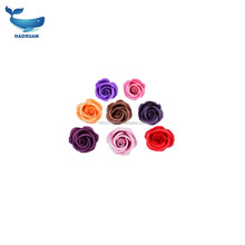 YWLY0001 HAOXUAN Soap Artificial Rose Plum colored Creped Paper Shape Artificial Fake Flowers For Mum Gift