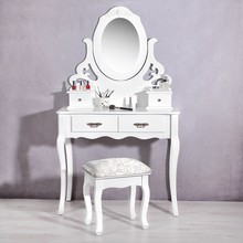 Mirrored Furniture Bedroom Wooden Wrought Iron Dressing Table