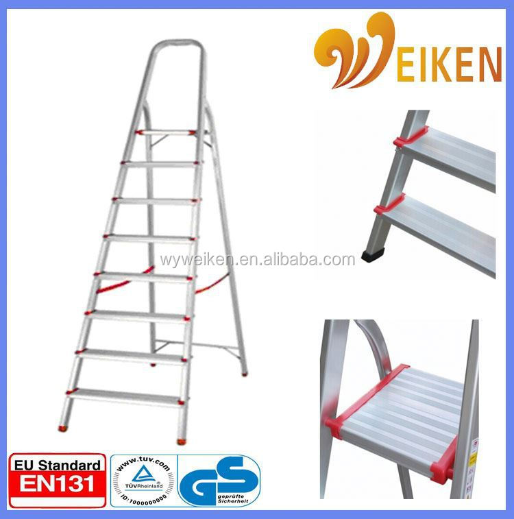 WK-AL208 8 steps price aluminum step ladder aluminum two - double side ladder